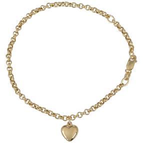 Armband mit Herz 750 Gelbgold