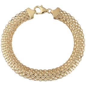Bismark-Armband 585 Gelbgold