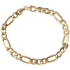 Figaro-Armband 585 Gelbgold