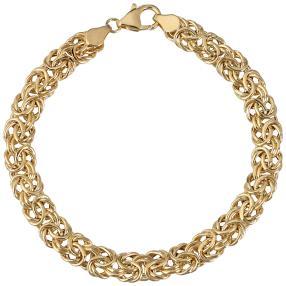 """Königsketten-Armband """"Byzanz"""" 585 Gelbgold ca.20cm"""