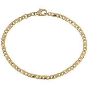 Armband Dollar-Design 585 Gelbgold