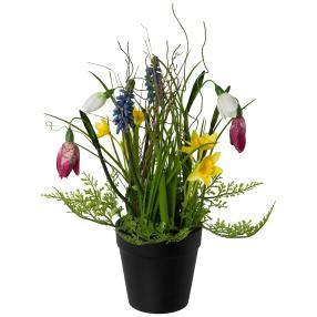 Frühlingsmix im Topf, bunt, 28 cm