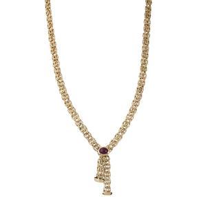 Königskette 585 Gelbgold mit Rubin ca. 50cm