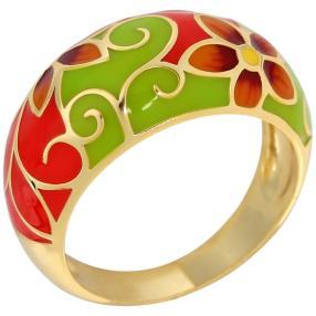 Ring 925 Sterling Silber vergoldet Emaille