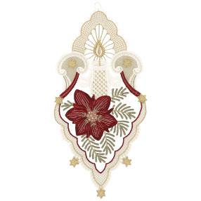 Plauener Spitze Fensterbild Blüte