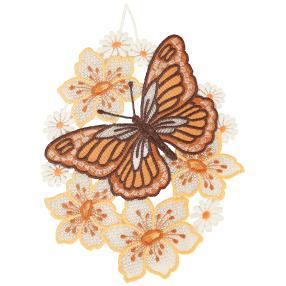 Plauener Spitze Fensterbild Schmetterling