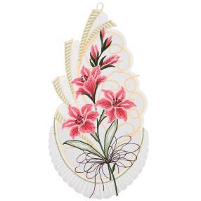 Plauener Spitze Fensterbild Lilie