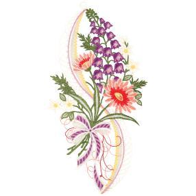 Plauener Spitze Fensterbild Blumen