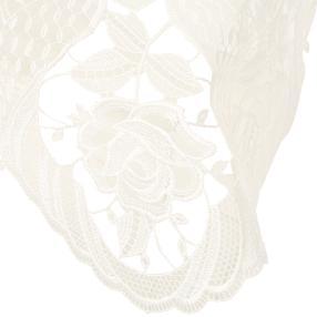 Plauener Spitze Tischwäsche rund 80 cm
