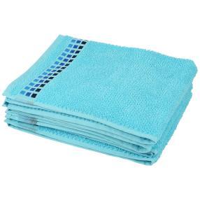 Handtuch Karos hellblau, 4er Set