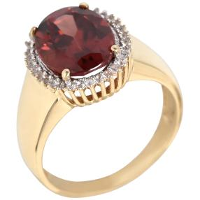 Ring 585 Gelbgold Tanga-Zirkon