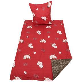 AllSeasons Bettwäsche 2-teilig, rot floral