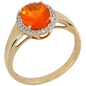Ring 585 Gelbgold, Feueropal