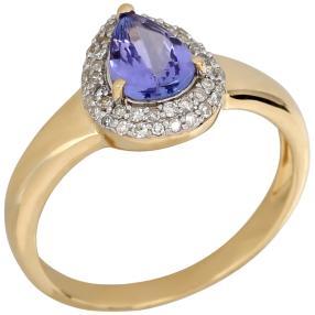 Ring 585 Gelbgold, AAA Tansanit