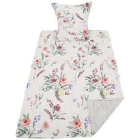 AllSeasons Bettwäsche 2-teilig, weiß floral