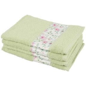 Handtuch Rosen 4-teilig grün
