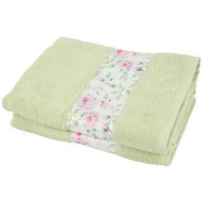 Duschtuch Rosen 2-teilig grün