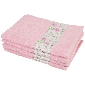 Handtuch Rosen 4tlg. rosa