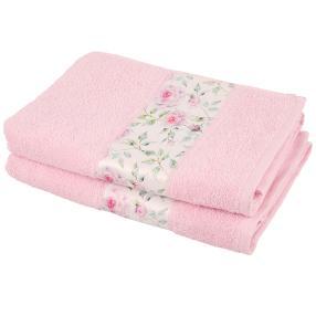 Duschtuch Rosen 2-teilig rosa