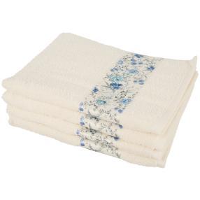 Handtuch Blumen 4-teilig creme