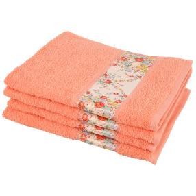 Handtuch Blumen 4tlg. apricot