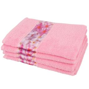 Handtuch Frangipani 4-teilig rosa