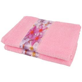 Duschtuch Frangipani 2-teilig rosa