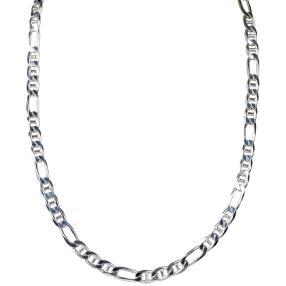 Steg-Figarokette 925 Sterling Silber ca. 32g