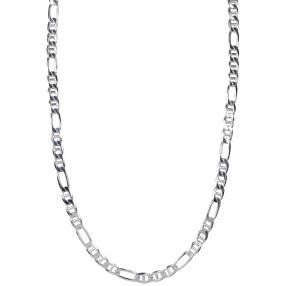 Steg-Figarokette 925 Sterling Silber ca. 38g