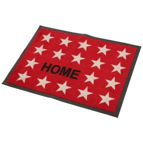 Türmatte Sterne Home red, 50 x 70 cm