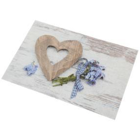 Türmatte Herz blau 40x60 cm