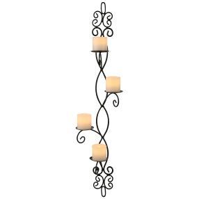 Wandkerzenhalter mit LED-Kerzen