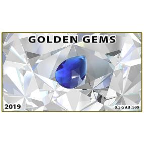Golden Gems Goldbarren Saphir