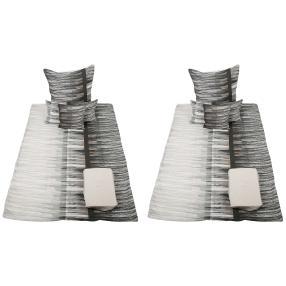 AllSeasons Bettwäsche 10-teilig, Streifen grau