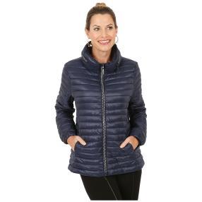 Damen-Jacke 'Marina' mit Strass-Zipper blau