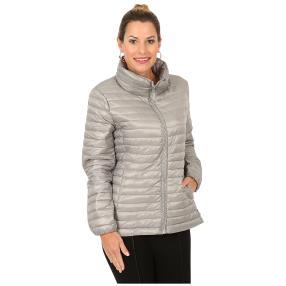 Damen-Jacke 'Marina' mit Strass-Zipper grau