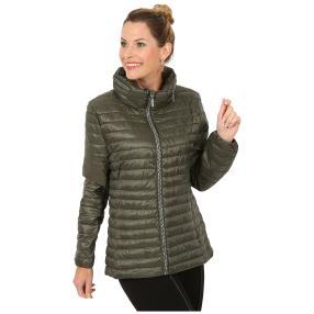 Damen-Jacke 'Marina' mit Strass-Zipper khaki