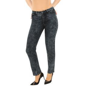 Jet-Line Damen-Jeans 'Phoenix' dark grey moon wash
