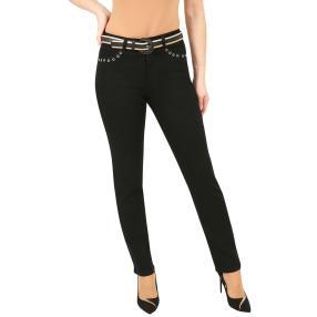 Jet-Line Damen-Jeans 'Mesa' mit Gürtel deep black