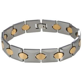 Wolfram-Armband bicolor