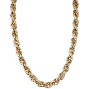 Kordel-Collier 585 Gold Oberflächendesign ca.39.8g
