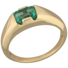 STAR Ring 585 Gelbgold Smaragd Kolumbien