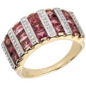 STAR Ring 585 Gelbgold AAA Turmalin pink Gr. 18