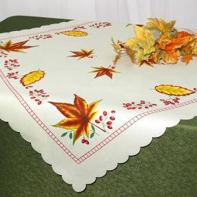 Mitteldecke Herbstblätter, 80 x 80 cm