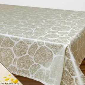 Tischdecke 130x160cm taupe, mit Fleckschutz