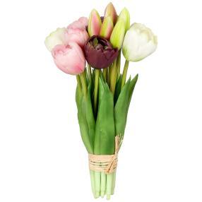 Tulpenbouquet creme-rosa-lila