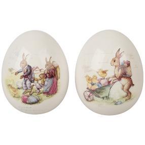 Deko-Eier Ostern 2er Set weiß Dolomit