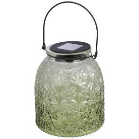 LED-Solarlampe mit Henkel grün
