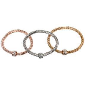 Set Himbeer-Armbänder tricolor