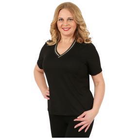BLUE SEVEN Damen-Shirt, V-Ausschnitt, schwarz